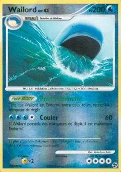 Wailord reverse niv 43 pv 200 - Carte pokemon wailord ...